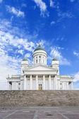 白色的赫尔辛基大教堂 — 图库照片