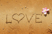Love written in sand — Stock Photo