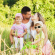 Happy Family Having Fun Outdoors — Stock Photo