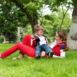 Happy family having fun in park — Stock Photo #29880699