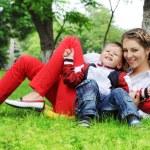 Happy family having fun outdoors — Stock Photo #29880769