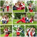 Happy family having fun in park — Stock Photo #33787063