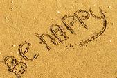 Mutlu ol — Stok fotoğraf