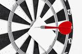 Dart in center of target — ストック写真