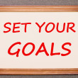 Set Your Goals — Stock Photo