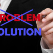 Business man eliminate problem and find solution — Stock Photo