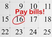 Pay bills! — Zdjęcie stockowe