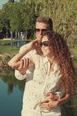 открытый влюбленная пара — Стоковое фото