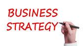 Estrategia de negocio de la escritura a mano — Foto de Stock