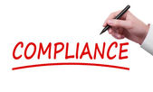 Hand writing Compliance — Stock Photo