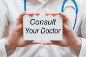 Consult Your Doctor — Stock Photo