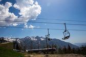 Beautiful Caucasus Mountains, Sochi, Russia. Krasnaya Polyana Ski Resort — Stock Photo