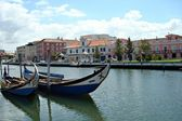 Boats in the city of Aveiro - Portugal — Stock Photo