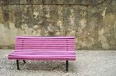 Bench in the square — Stock Photo
