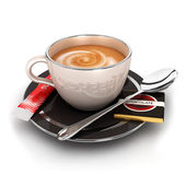 3d cup of coffee — Stock Photo