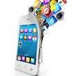 3d open smartphone — Stock Photo #13629581