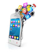 3d open smartphone — Stock Photo