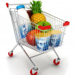 3d shopping cart — Stock fotografie