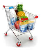 3d shopping cart — Stock Photo