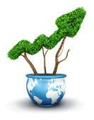 Crecimiento mundial 3d — Foto de Stock