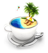 3d cup of paradise — Stock Photo