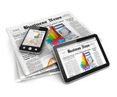 3d business news — Stock Photo
