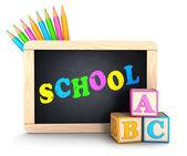 Concepto de escuela 3d — Foto de Stock