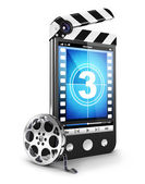 3d video smartphone concept — Stock Photo