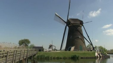 Dutch windmills — Stock Video