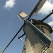 Stock Video: Dutch windmills near Kinderdijk, The Netherlands
