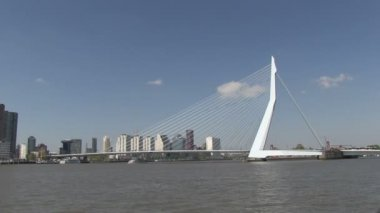 Erasmusbrug in Rotterdam, The Netherlands — Stock Video