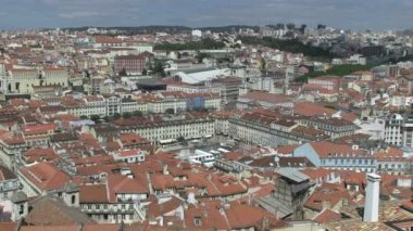 Rossio Square, Lisbon, Portugal — Stock Video