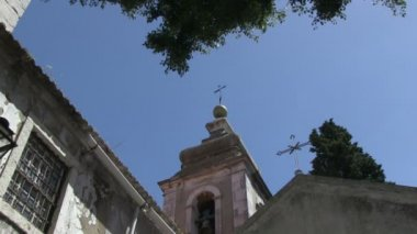 Bell tower in Lisbon. — Stock Video