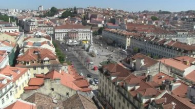 Rossio Square in Lisbon, Portugal — Stock Video