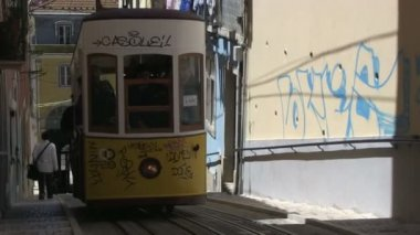 Tram in Lisbon, Portugal — Stock Video