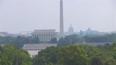 Lincoln Monument, Washington Monument and the US Capitol building — Stock Video