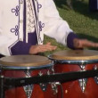Stock Video: Percussionist of marching band