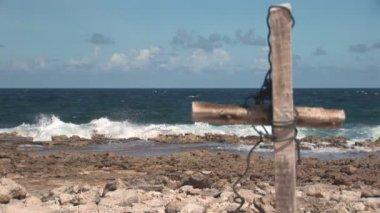 Cruz hecha de madera — Vídeo de Stock