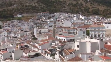Traditional white homes in the Andalusian town of Mijas — Stock Video