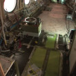 Interior of a stripped airplane — Stock Video #28578711