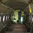 Stock Video: Interior of stripped airplane