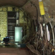 Interior of a stripped airplane — Stock Video #28581215