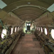 Interior of a stripped airplane — Stock Video #28581809