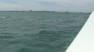 Motorboat near Key West — Stock Video