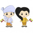 Myanmar_costume - Stock Photo