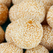 Thai snack : fried dumpling with Mix sesame seeds  — Stock Photo