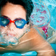 Stock Photo: Kid swimming