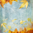 Yellow autumn leaves painting - Stock Photo