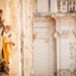 Saint statues in Lecce — Stock Photo
