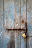 Old door with lock — Stock Photo